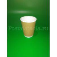2 Стакан бум. двухслойный крафт 350 мл д=90 30шт/уп, 600 шт/кор