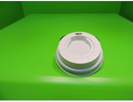 Крышка для стакана  с питейником Д=62мм. БЕЛАЯ, 100 шт/уп, 2500 шт/кор