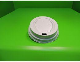 Крышка для стакана с питейником Д=70 мм, БЕЛАЯ 100 шт/уп, 1600 шт/кор