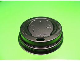 Крышка для стакана с питейником Д=73мм ,ЧЕРНАЯ, 100 шт/уп ,1600 шт/кор