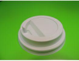 Крышка для стакана с питейником и клапаном белая д=80 мм, 100 шт/уп, 1000 шт/кор