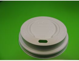 Крышка для стакана с питейником Д=73мм , БЕЛАЯ,100 шт/уп ,1600 шт/кор