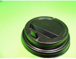 Крышка для стакана с питейником и клапаном д=80 черная, 100 шт/уп, 1000 шт/кор