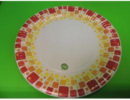 "Тарелка картонная Д=230 лак ""Мозаика"" 50 шт/уп. 500 шт/кор."
