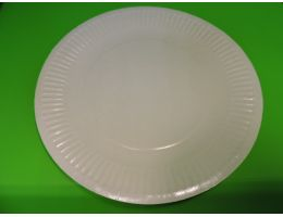 Тарелка картоная Д=230 ламинированная белая ГФЛ 50 шт/уп, 500 шт/кор.
