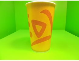 Стакан бумажный  оранжевый Whizz  д=90 мм, 400мл. 50 шт/уп, 1000 шт/кор
