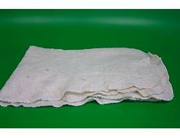 Тряпка для пола нетканная белая оверлок 75х75см.
