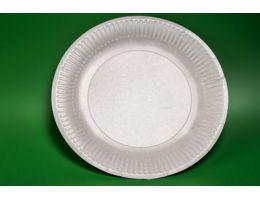 Тарелка картонная ламинированная белая D-230 50 шт/уп 1000 шт/кор.